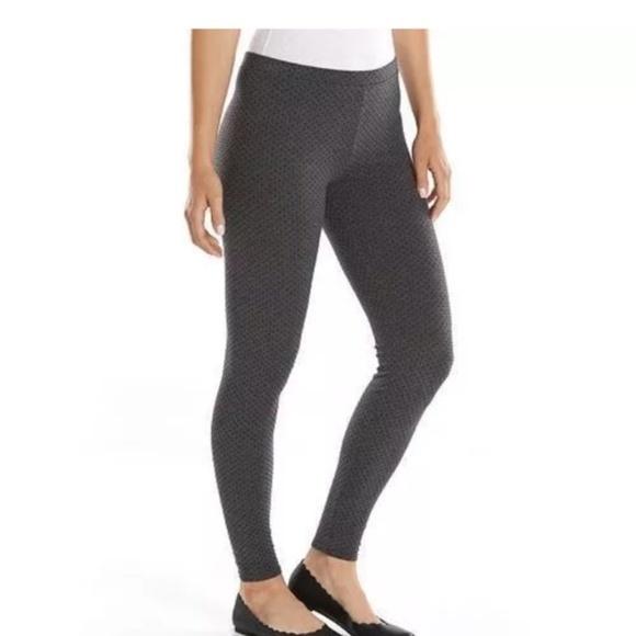 2fbfaf6435138f LC Lauren Conrad Pants - Lauren Conrad • Gray & Black Polka Dot Leggings